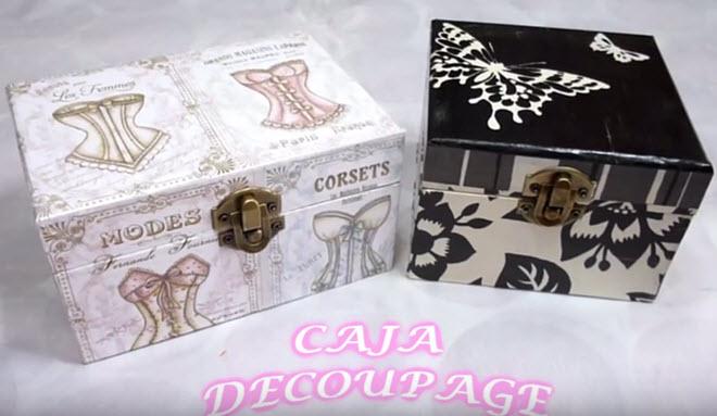 caja decoupage vintage