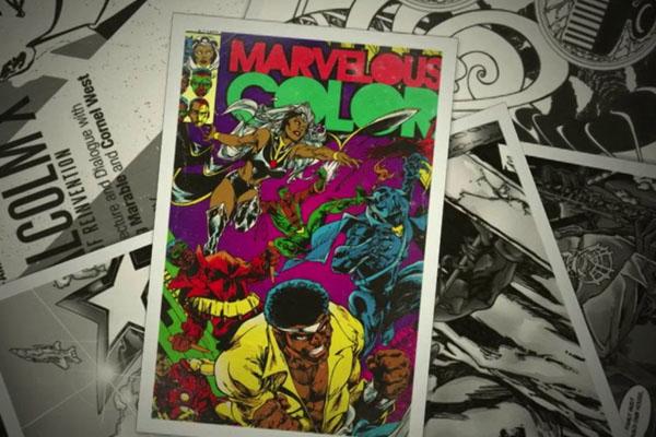 foto de un cómic de marvel impresa a 4 colores CMYK