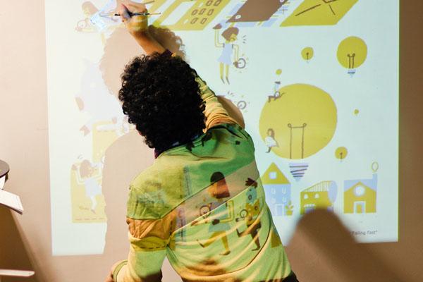 Un artista handmade combindo lo digital con las artes gráficas