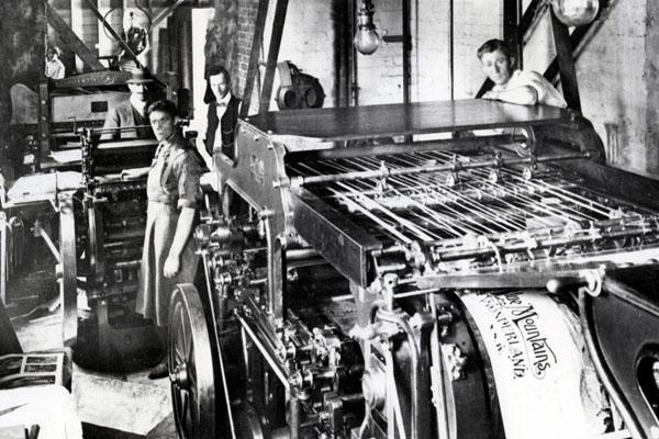 fotografia de una imprenta gáfica la historia